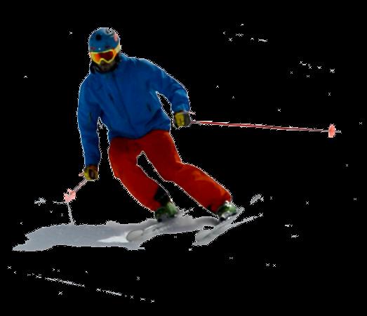 Skier sliding