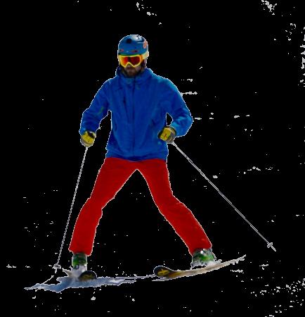 Ski Instructor showing snowplough