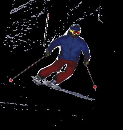 Ski instructor carving