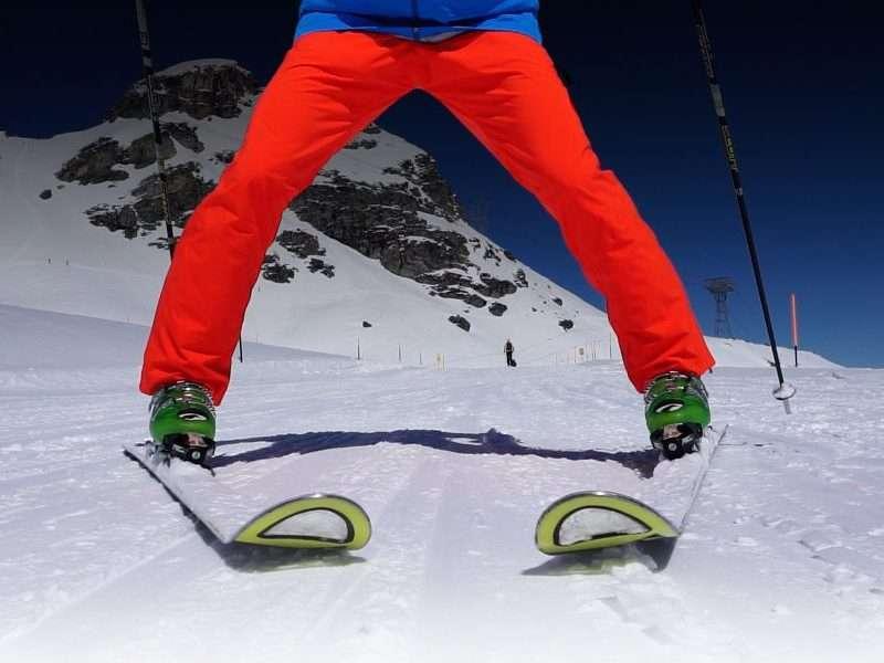 Ski snowplough
