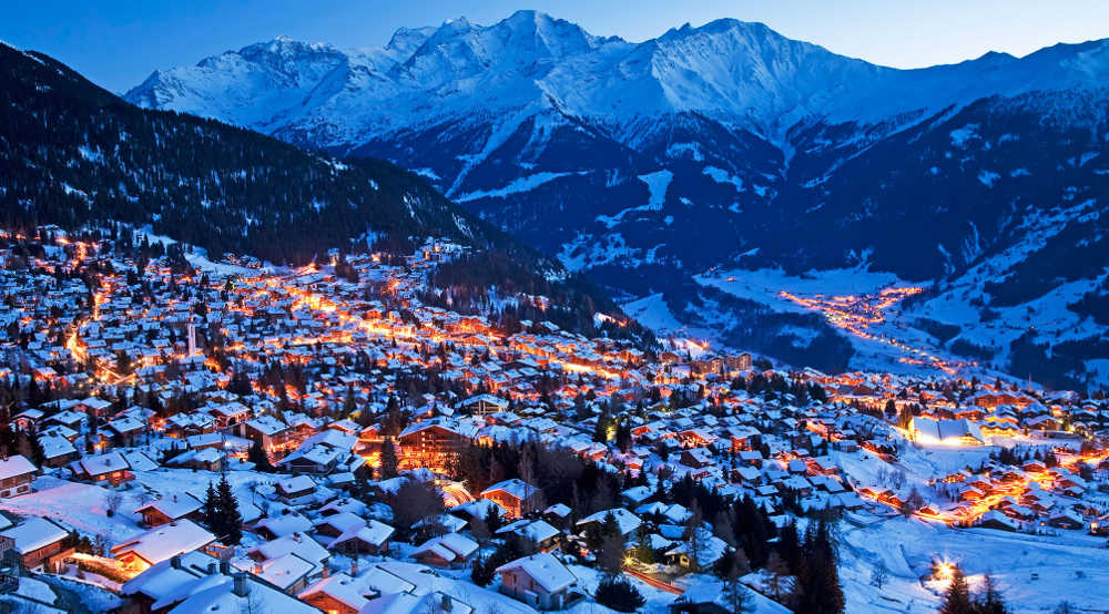 Verbier views at night