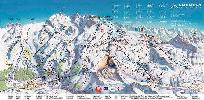 Zermatt ski piste map