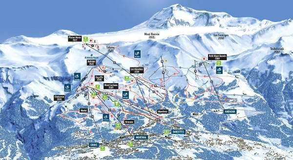 Ski Map of Crans Montana