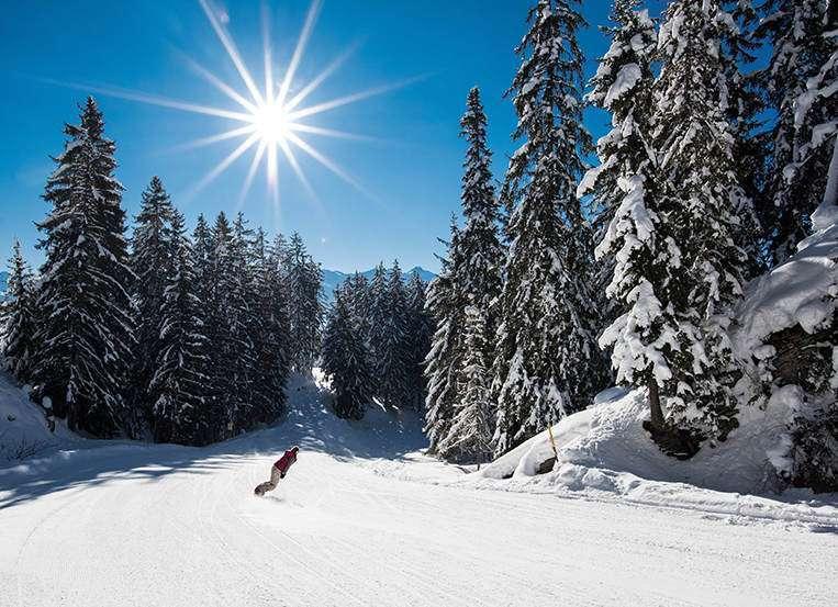 Crans Montana ski slope