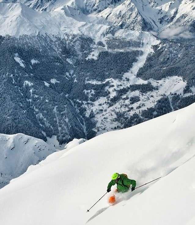 freeride skier Bruson