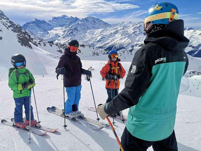 Children ski lessons Verbier